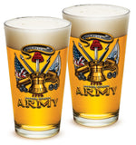 16 Ounces Pint Glass Army Antique Armor - Star Spangled 1776