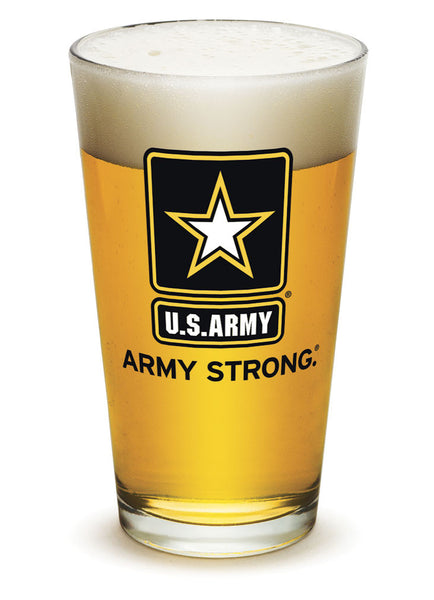 16 Ounces Pint Glass Army Star Logo - Star Spangled 1776