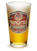 16 Ounces Pint Glass Denim Fade Beer Label
