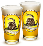 16 Ounces Pint Glass Dont Tread On Me
