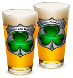 16 Ounces Pint Glass Irish Brotherhood Police - Star Spangled 1776