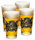 16 Ounces Pint Glass Marine Devil Dog First In Last Out