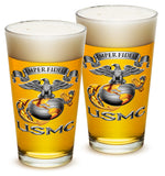 16 Ounces Pint Glass USMC-SEMPER FIDELIS