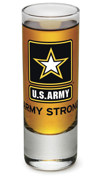 2 Ounces Shooter Shot Glass  Army Star Logo - Star Spangled 1776