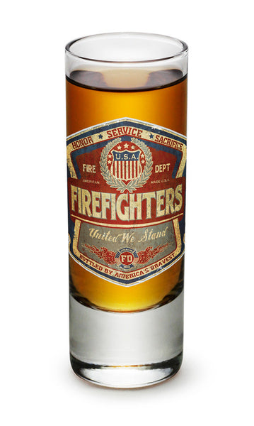 2 Ounces Shooter Shot Glass Denim Fade Beer Label - Star Spangled 1776