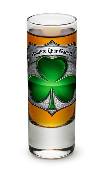 2 Ounces Shooter Shot Glass Irish Brotherhood Police - Star Spangled 1776