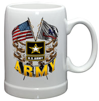 20 Ounces Stoneware Army Double Flag US Army - Star Spangled 1776