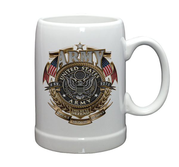 20 Ounces stoneware ARMY Gold Shield - Star Spangled 1776