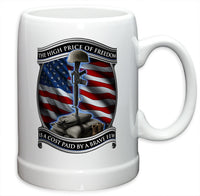 20 Ounces Stoneware High Price Of Freedom - Star Spangled 1776