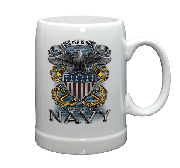 20 Ounces Stoneware NAVY Full Print Eagle - Star Spangled 1776