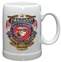 20 Ounces Stoneware USMC Badge of Honor