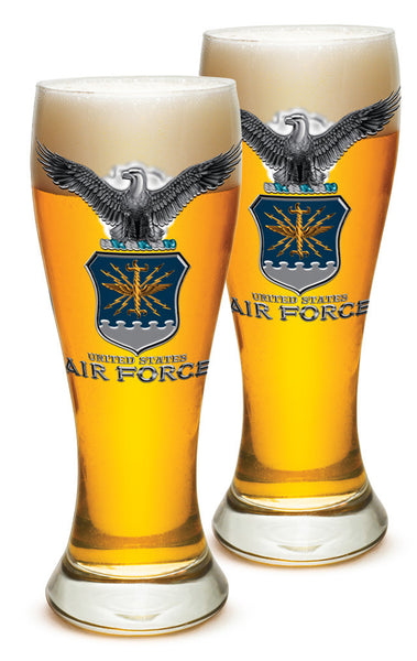 23 Ounces Pilsner Glass AIR FORCE USAF Missile - Star Spangled 1776