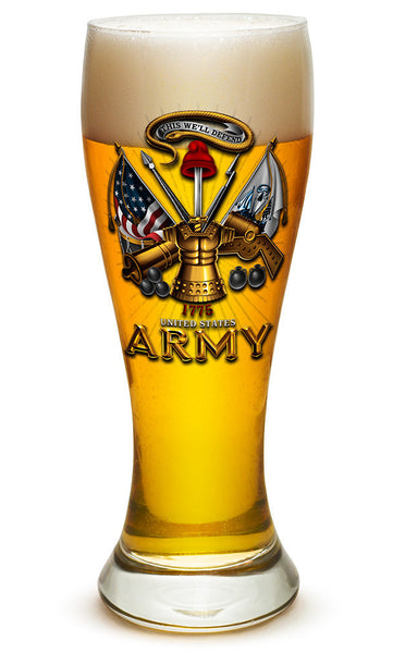 23 Ounces Pilsner Glass Army Antique Armor - Star Spangled 1776