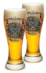 23 Ounces Pilsner Glass ARMY Gold Shield