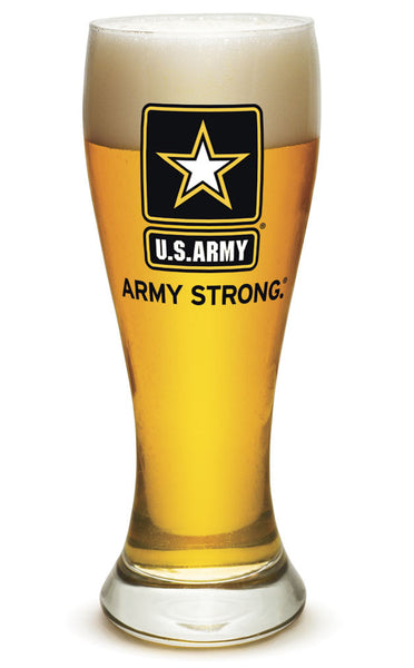 23 Ounces Pilsner Glass  Army Star Logo - Star Spangled 1776