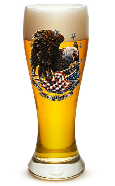 23 Ounces Pilsner Glass These Colors Dont Run - Star Spangled 1776
