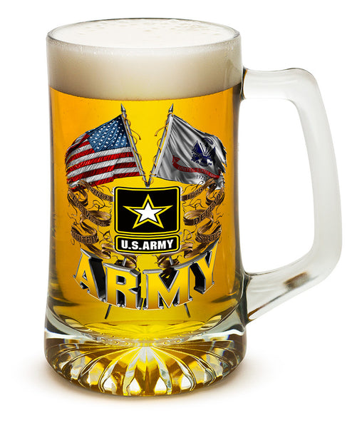 25 Ounces Tankard Army Double Flag US Army - Star Spangled 1776