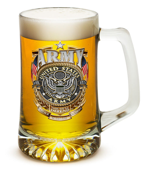 25 Ounces Tankard ARMY Gold Shield - Star Spangled 1776