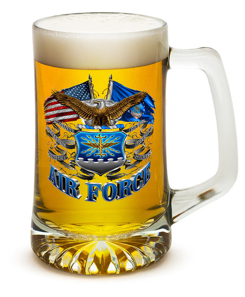 25 Ounces Tankard Double Flag Air Force Eagle - Star Spangled 1776