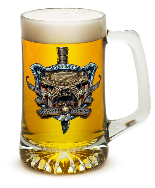 25 Ounces Tankard Once And Always A Marine - Star Spangled 1776