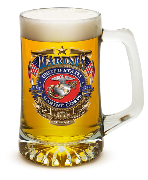 25 Ounces Tankard USMC Badge of Honor