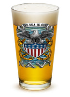 16 Ounces Pint Glass NAVY Full Print Eagle - Star Spangled 1776