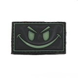 Smiley Face Glow In The Dark Black PVC Morale Patch - Star Spangled 1776