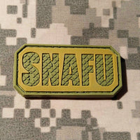 SNAFU Yellow and OD Green PVC Morale Patch - Star Spangled 1776