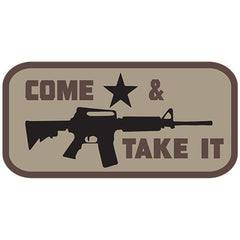 Come And Take It Embroidered Hook Back Patch