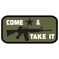 Come And Take It Embroidered Hook Back Patch - Star Spangled 1776