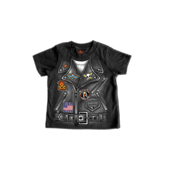 Boys Leather Jacket Toddler T-Shirt - Star Spangled 1776