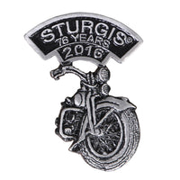 Official 2016 Sturgis Motorcycle Rally Laid Back Bike Pin - Star Spangled 1776