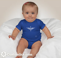 Army Aviation Insignia In White Mini Aviaiton Addict Blue Baby Onesie - Star Spangled 1776