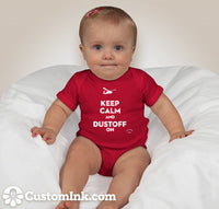 Dustoff On Mini Aviaiton Addict Red Baby Onesie - Star Spangled 1776