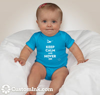 Hover On Mini Aviaiton Addict Teal Baby Onesie - Star Spangled 1776