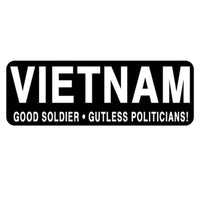 Vietnam Good Soldier Helmet Sticker- 4 X 1 - Star Spangled 1776