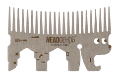 Headgehog 7 Function Utility Comb Multi-Tool- Silver
