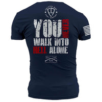 Walk Into Hell T-Shirt- Grunt Style Enlisted Nine Tee Shirt - Star Spangled 1776 - 2