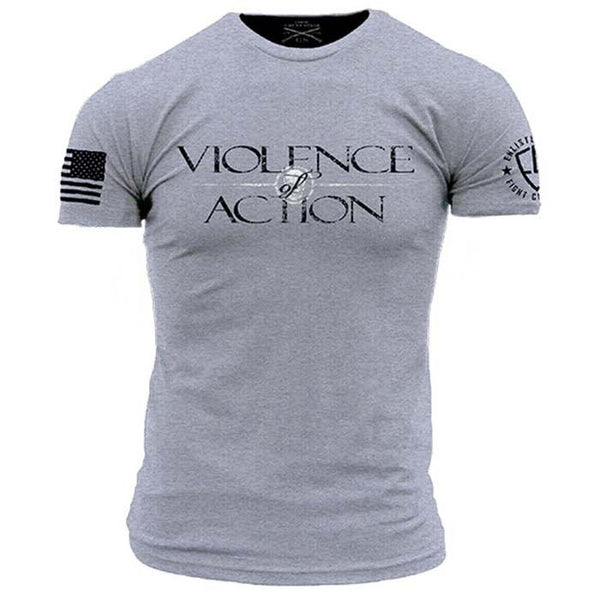 Violence Of Action T-Shirt- Grunt Style Enlisted Nine Tee Shirt - Star Spangled 1776