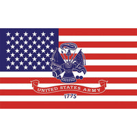 U.S. Army 1775 3 X 5 Polyester Flag - Star Spangled 1776