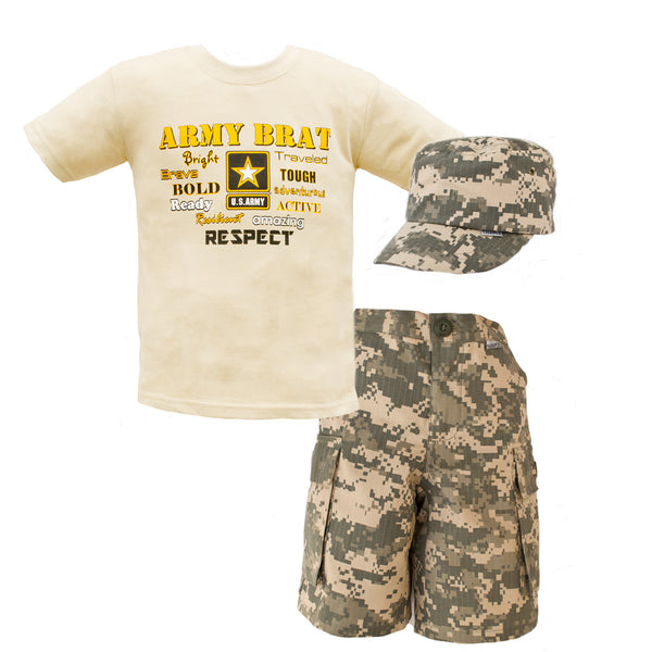 Army Brat ACU 3pc Short Set - Star Spangled 1776