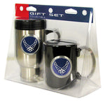 Air Force Stainless Travel Mug and Black Coffee Mug Set - Star Spangled LLC