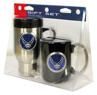 Air Force Stainless Travel Mug and Black Coffee Mug Set - Star Spangled 1776