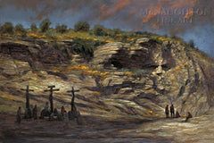 Beneath Golgotha Lithograph Art Print by Jon McNaughton- 10 X 15 OE