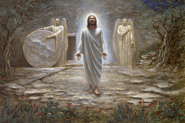 He Is Risen Lithograph by Jon McNaughton - Star Spangled 1776