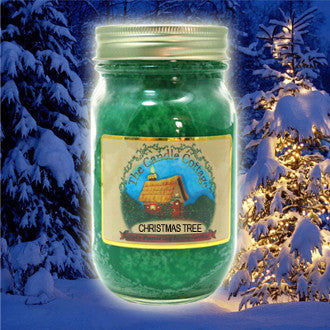 Christmas Tree Mason Jar Candle - Star Spangled 1776