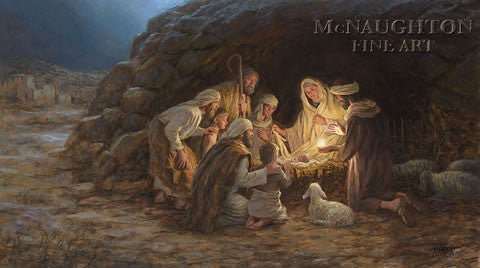 The Nativity Lithograph by Jon McNaughton - Star Spangled 1776