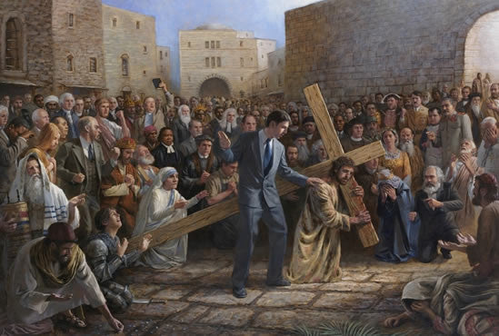 Via Dolorosa Lithograph by Jon McNaughton - Star Spangled 1776
