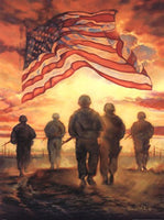 Bless America's Hero's Military Art Print - Star Spangled 1776