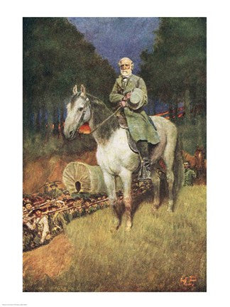 General Lee and Charger Military Art Print - Star Spangled 1776
